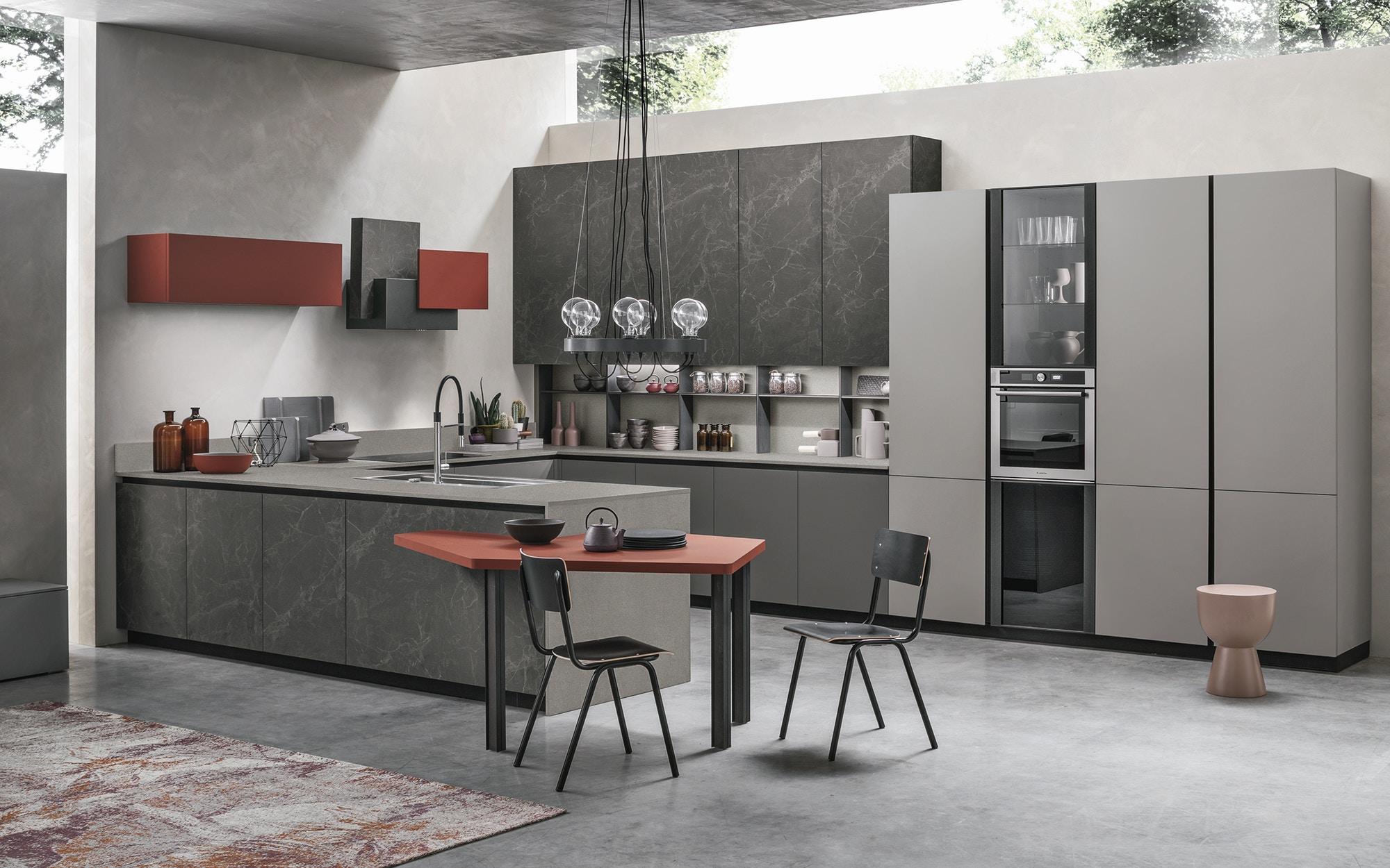 Metropolis prowood stosa cucine milano for Cucine moderne scure